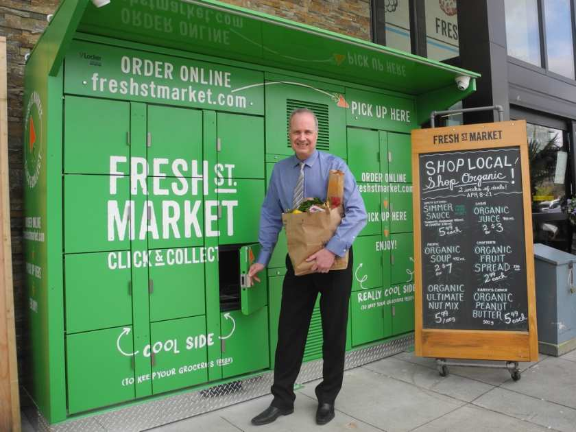 Fresh St. Market offers 24-hour refrigerated pickups for online customers